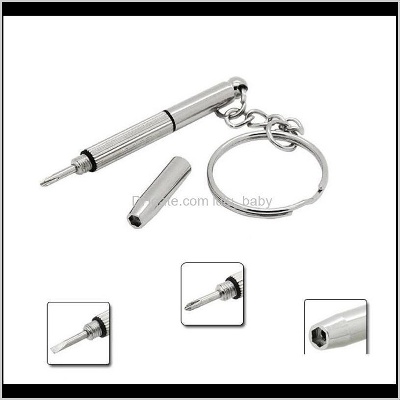 new fashion key chain multifunctional combination tool screwdriver portable mini utility pocket multi tool keychain key ring