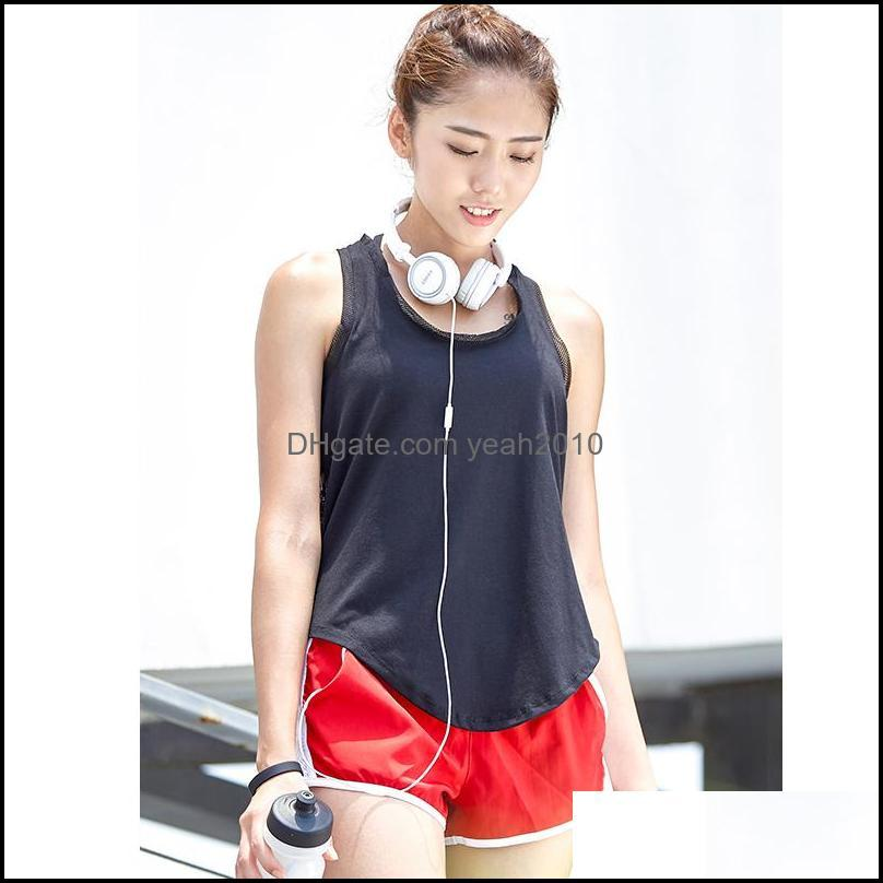 Yoga Outfits Quick Dry T Shirt Women`s Sport Shirts Running Loose Sleeveless T-shirts Fitness Top Tank Gym Clothes1