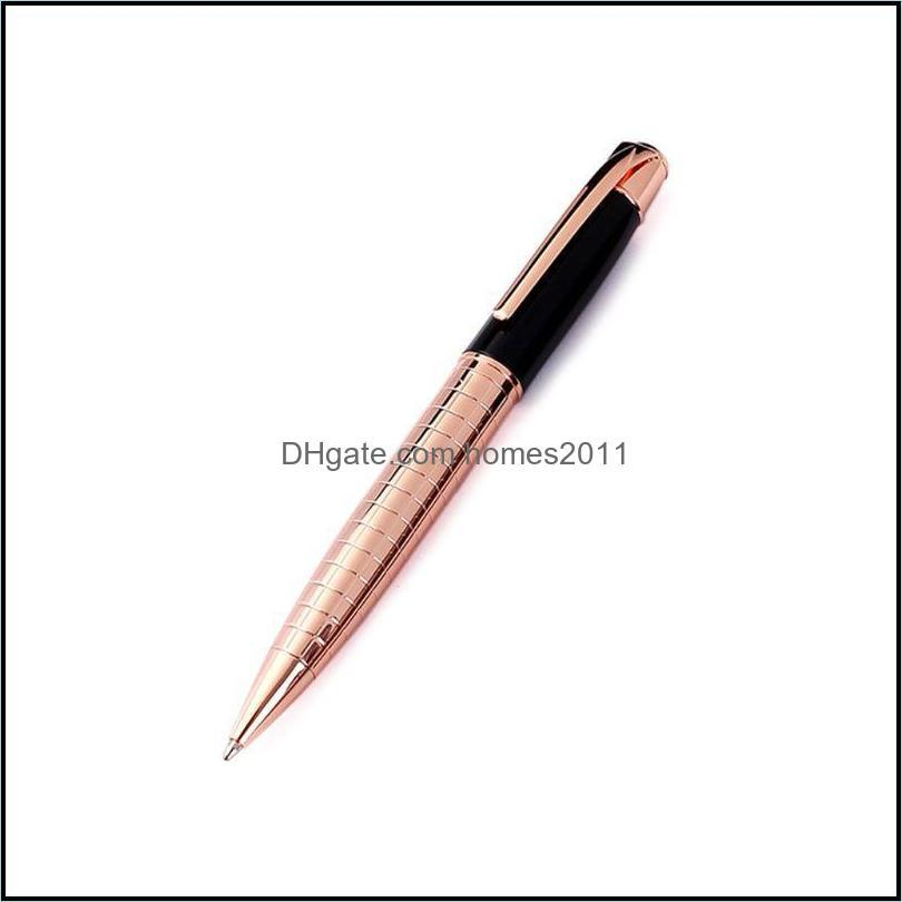 Luxury Metal Engraved Twist Ballpoint Pen Business Signature Rollerball Office Supplies Stationery Writing Gift X3UE Pens