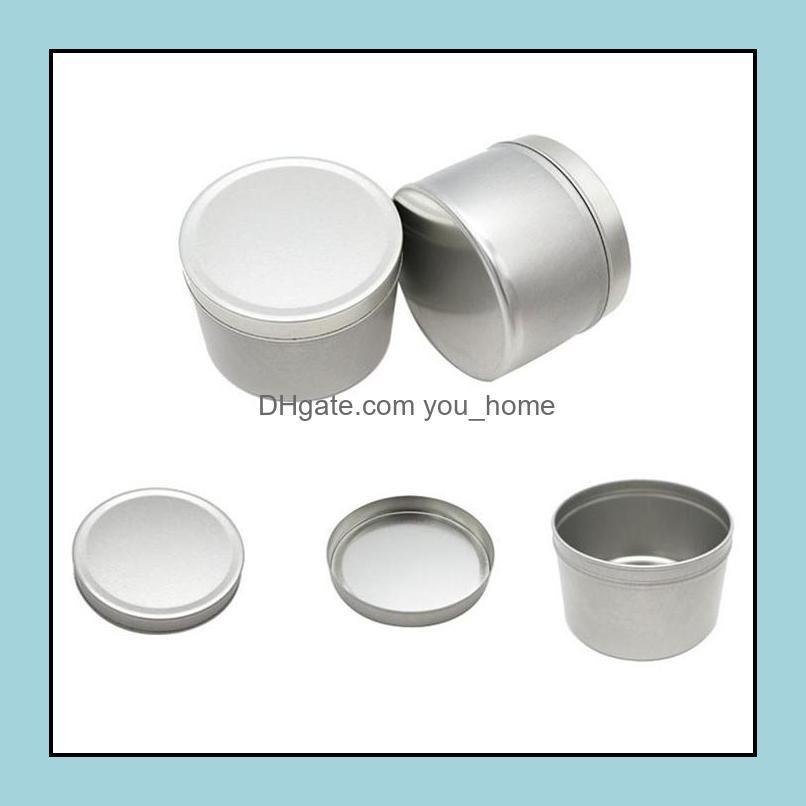 Container Tinplate With Lid Candle Balm Jar Party Favor Round Silver Color Empty Jar 4Oz OWE8229
