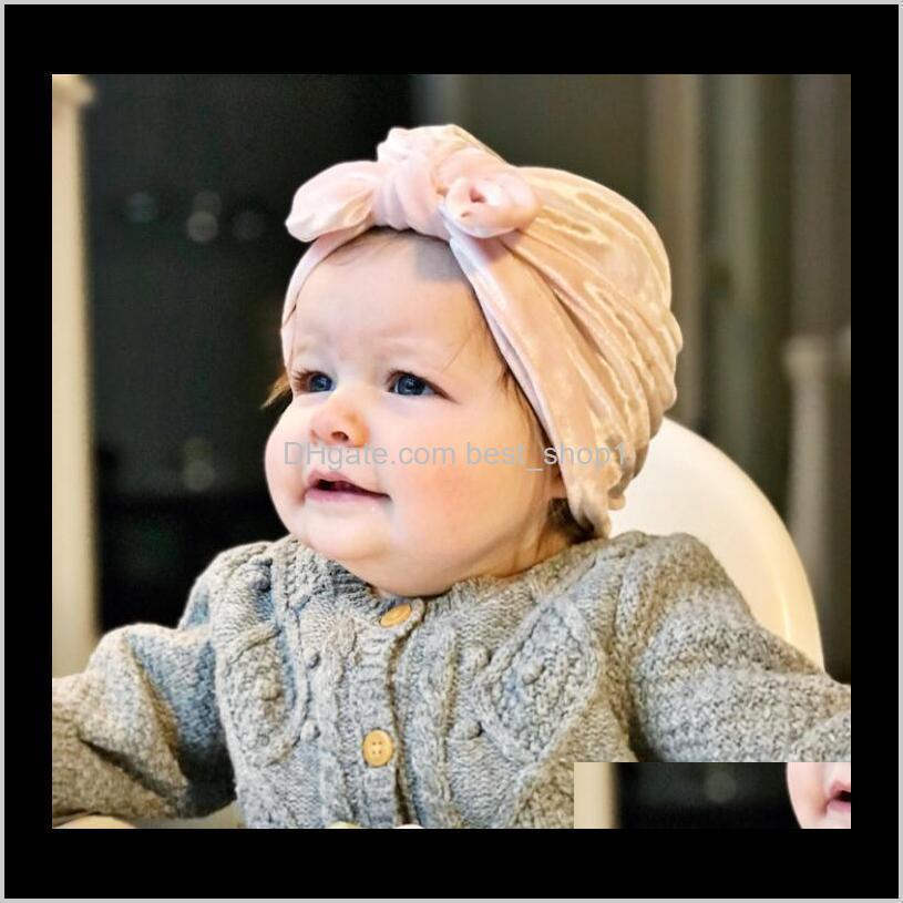 kids winter warm hats wholesale christmas turban hat baby velvet beanies bonnet girls indians muslim turban skull cap accessories