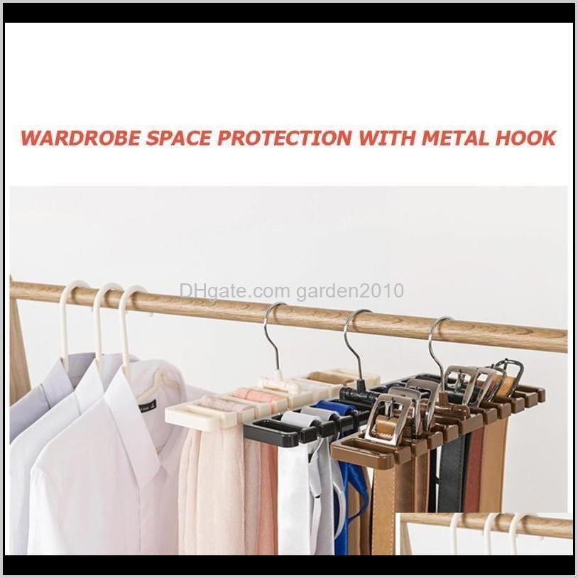 new plastic tie belt scarf organizer closet wardrobe space saver hanger for men women clothing with metal hook belt storage