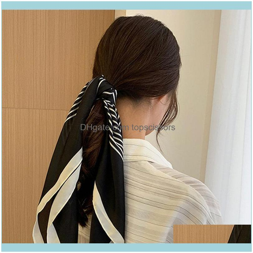 Lady Multipurpose Korean Spring Autumn Style Long Scarf Professional Square Female Fashion Decoration Hair Band Tie Accessories1