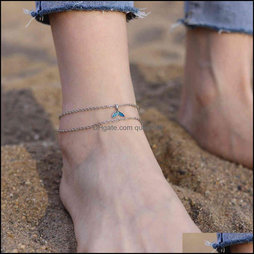Fashion s ts for Women Beach Accessories Ankle Stainless Steel Leg Bracelet Sandals Foot Jewelry