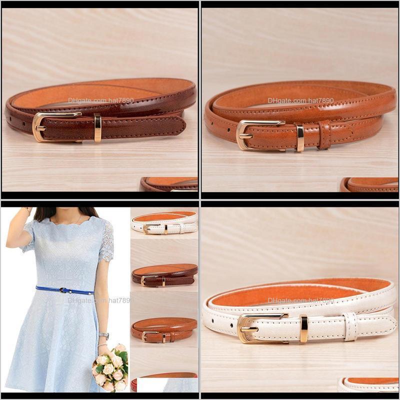 100cm Exquisite Dress Waist Belt Ladies Women Solid Color Thin PU Fashion Wild Belts