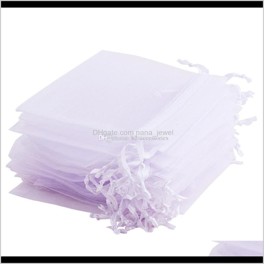 wholesale 9*12cm jewelry bags mixed organza jewelry wedding party favor xmas gift bags purple blue pink yellow black with drawstring
