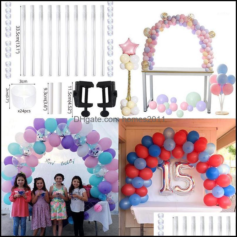 Cyuan 38Pcs Balloon Arch Table Stand Birthday Party Balloons Accessories Clamps Wedding Decoration Table Ballons Arch Frame Kit1