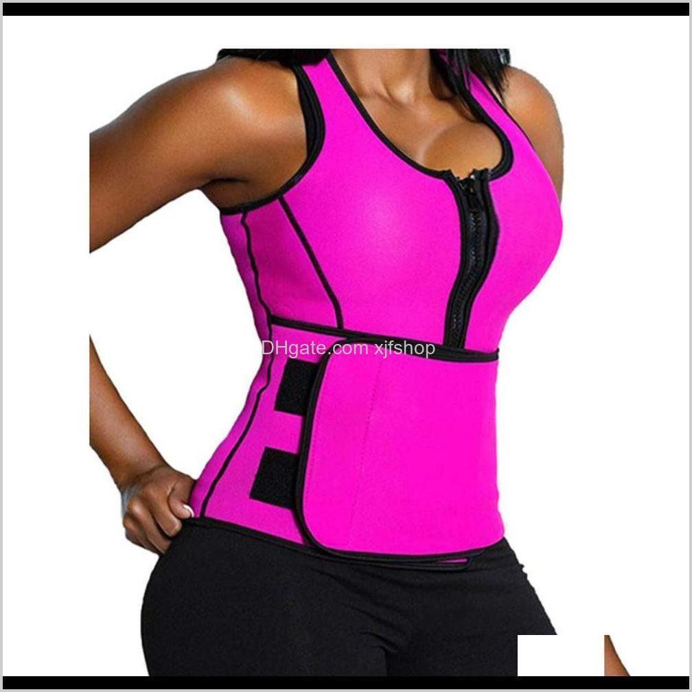 new hot women neoprene vest slim belt hot sweat shirt body shaper weight loss waist trainer shapewear sauna sweat top