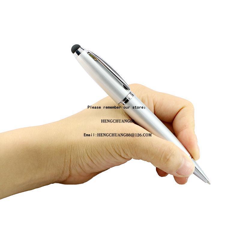 metal pen usb flash drive 128gb flash memory stick 6 color pen drive 64gb 4gb 8 16 32 gb pendrive usb2.0 teacher gift ball-point pen u