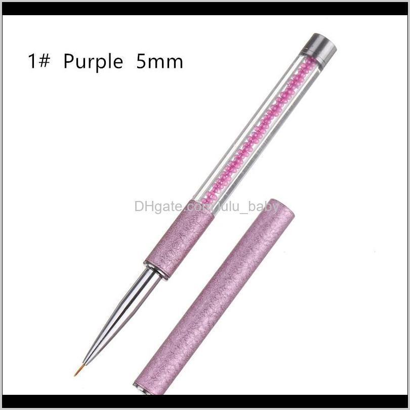 5/9/11/20 mm pearl acrylic nail art liner brush french lines stripes grid flower painting drawing pen diy manicure tools