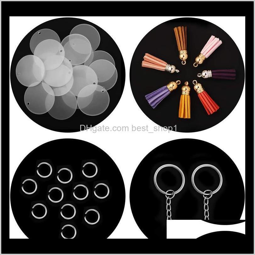 creative keyring 5cm blank disc with suede tassel vinyl keyrings available monogrammed clear acrylic disc tassel keychain christmas