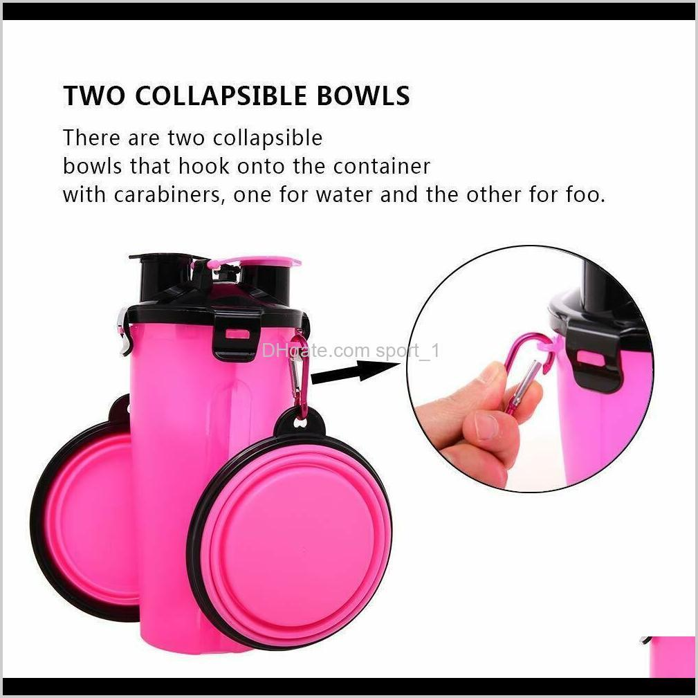 portable pet dog cat water bottle food cup drinking travel outdoor feeder bowl