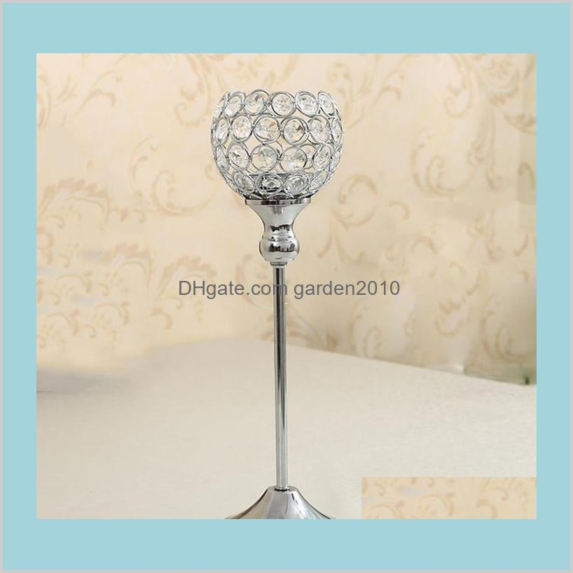 Glass Crystal Candle Holders 12