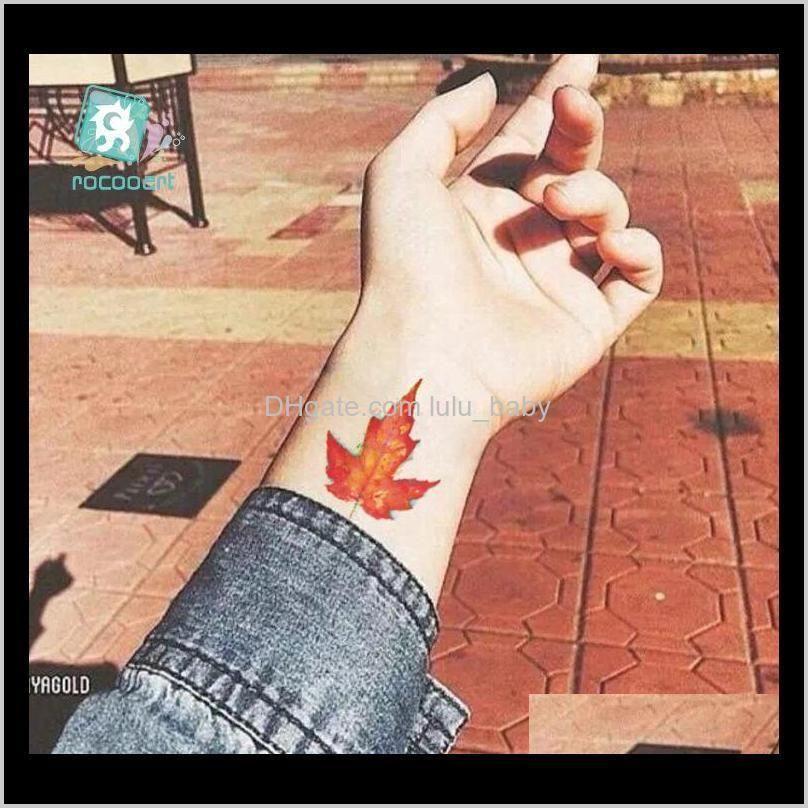 flower waterproof temporary tattoo sticker lotus leaf girl lavender tatto stickers flash tatoo fake tattoos for women