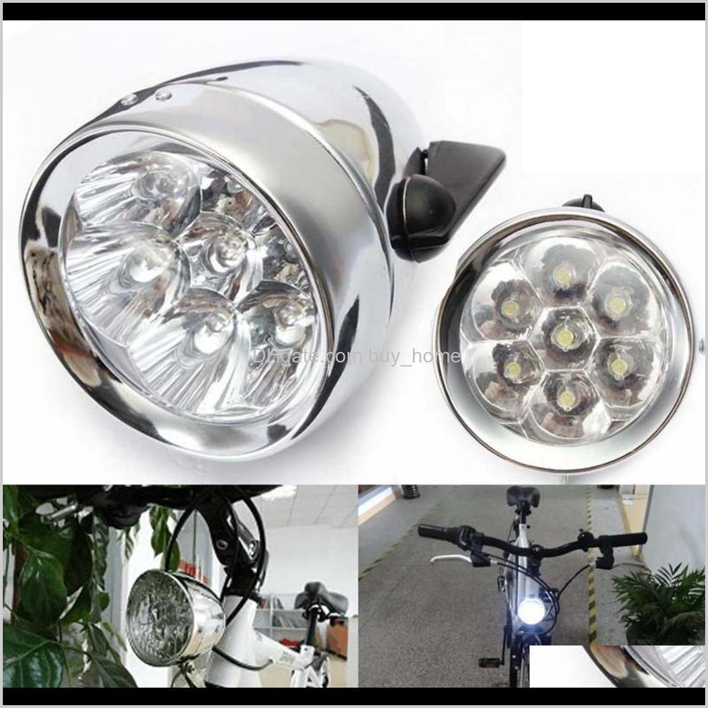 weimostar waterproof 7 led metal shell bicycle head light retro vintage mtb bike front headlight cycling front light accessories