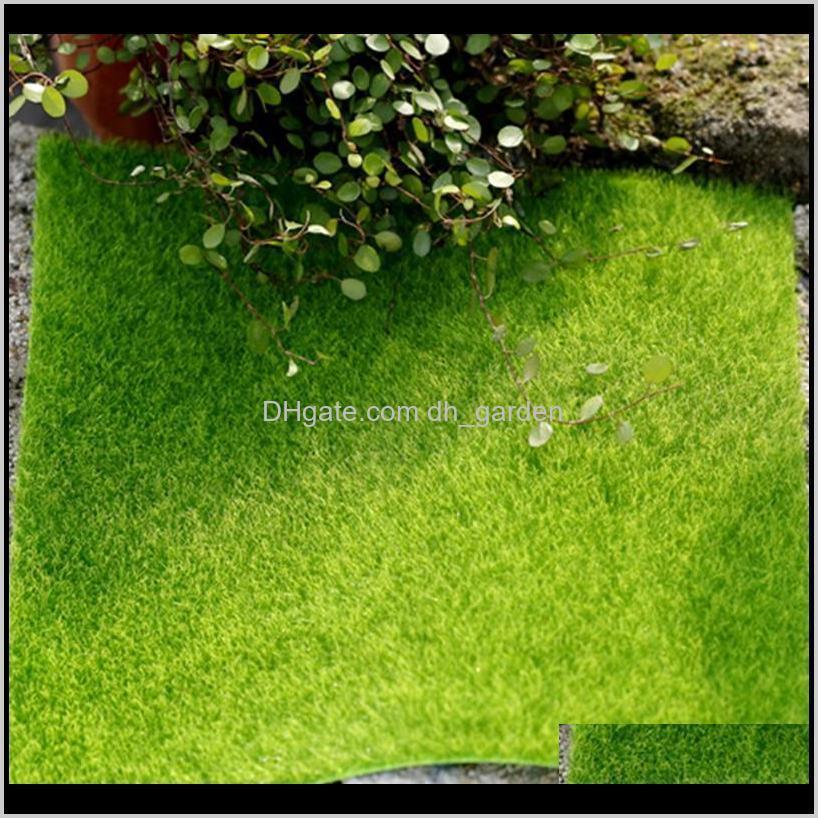 4pcs 30cm artificial grass mat green artificial lawns turf carpets fake sod home garden moss for home floor wedding decoration