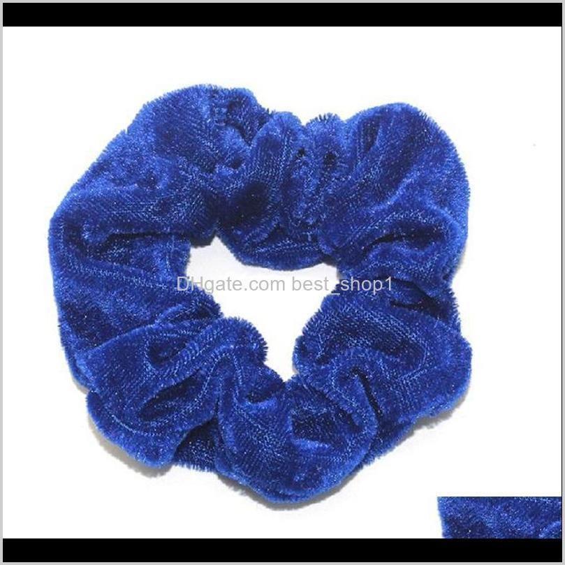 hair scrunchies velvet women hairbands elastic hair ties ropes solid ponytail holder girls hair accessories 60pcs 1 lot dw5972