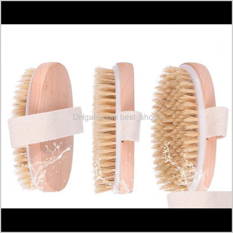 bath brush dry skin body soft natural bristle spa the brush wooden bath shower bristle brush spa body brushs without handle eea1336