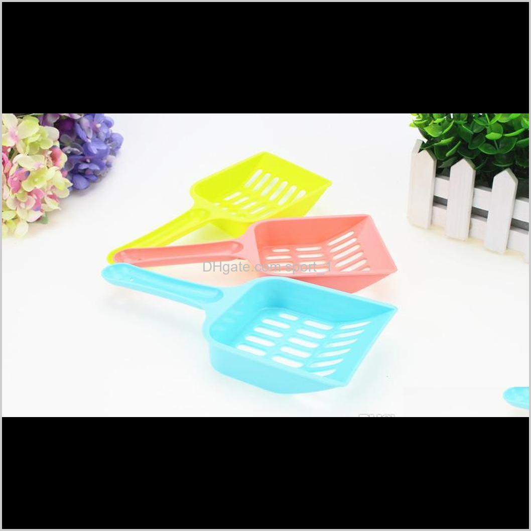 cheapest plastic cat litter scoop portable cat cleaning shovel dog pet poop waste scooper easy to clean 5 colors to choose