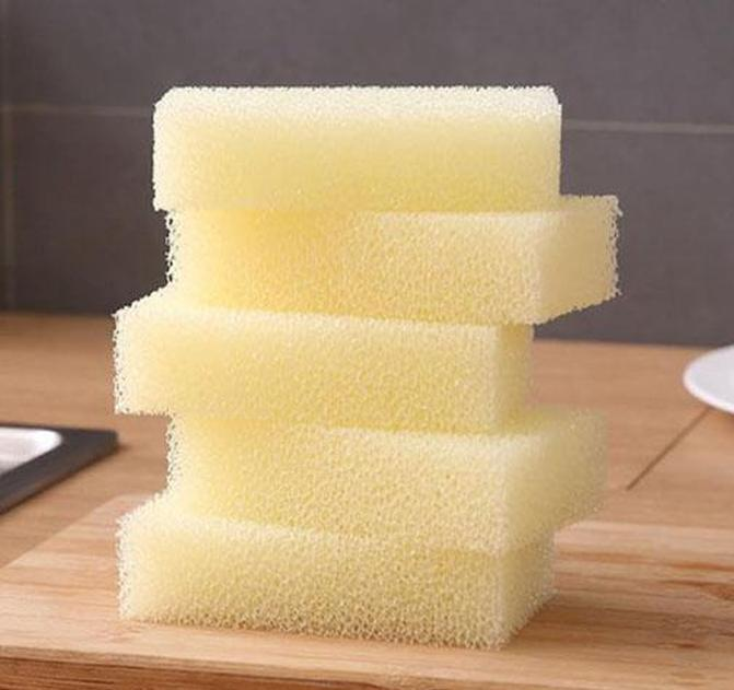 natural loofah dishwashing cloth kitchen decontamination non-stick oil brush pot double-sided cleaning microfibre sponge shipping