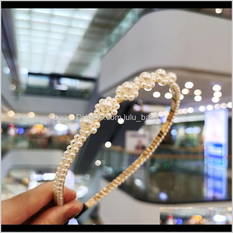 elegant simulation headband for women girl cute headbands bow flower pearl beads hoops bands hair accessories