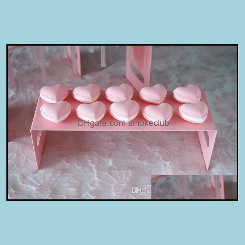 3PCS/Set Cake Push Pops product display Stands Pink series theme wedding metal cake stand
