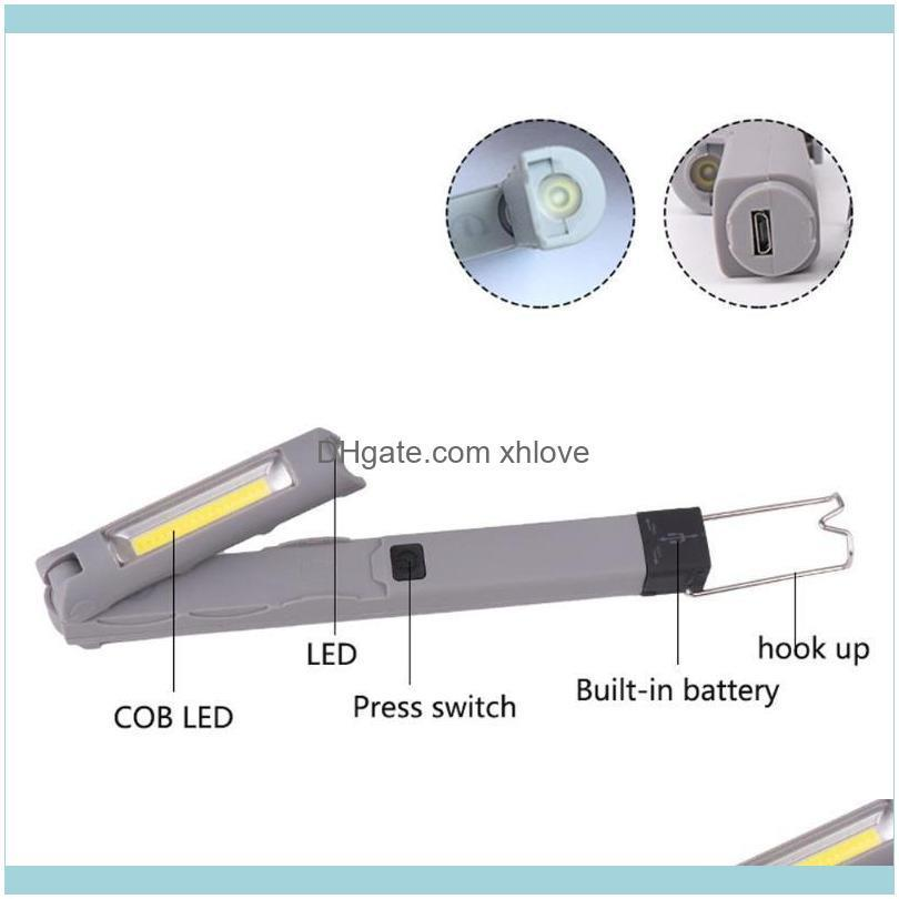 LED COB Emergency Hanging Lamp Built-in Battery Tail With Magnet LED Torch Light For Car Repair Rotated Light1