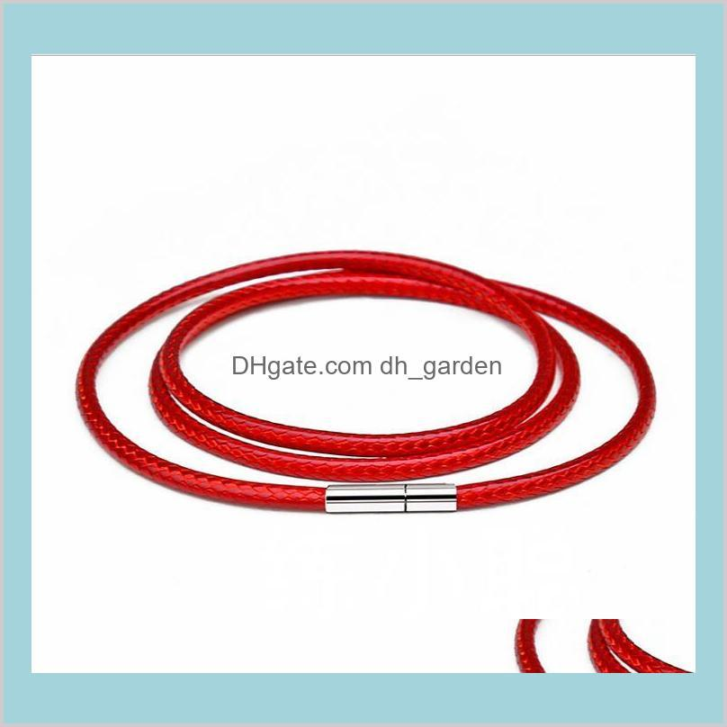 diy necklace bracelet in black red coffee color jewelry necklace cord string rope lace chain with rotary buckle for