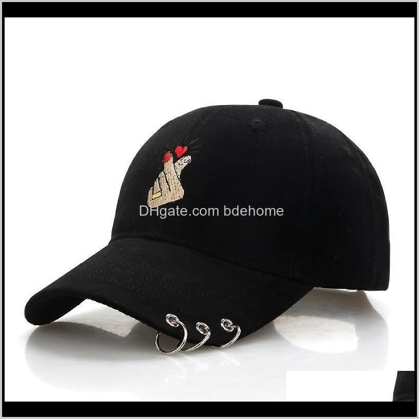 black adult ring finger love adjustable iron ring baseball caps snapback cap casquette hats fitted casual gorras dad hats