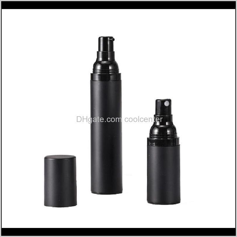 empty black frosted plastic as spray pump bottles airless 15ml 30ml 50ml dispenser for cosmetic liquid/lotion