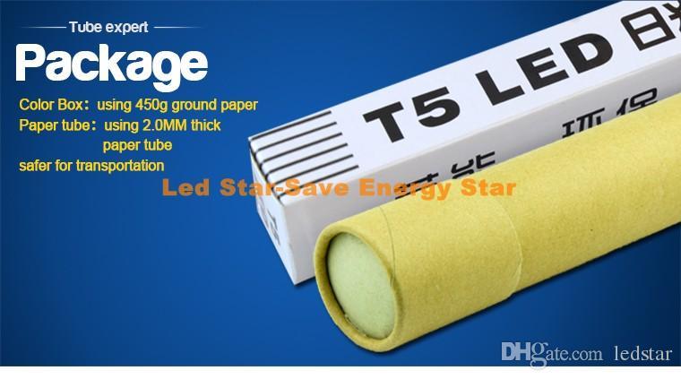 T5 LED Schlauchlicht 4 ft 3 ft 2ft T5 Leuchtstoff G5 LED-Leuchten 9W 15w 18w 22w 4 foot integrierte LED-Röhren Lampe ac85-265v