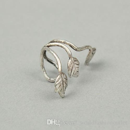 Moda Ear Cuff Aleación de la oreja Vintage Stud Diseño de la hoja Pendiente Ear Cuff Wrap Clip Pendientes de oreja para mujer Oreja Clip Bronce Plata Oreja Ear Stud
