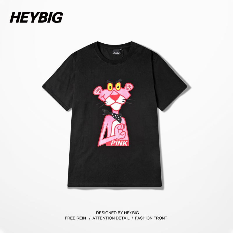 Heybig Cartoon Pink Panther T Shirt Men Women Short Sleeve Fashion ...