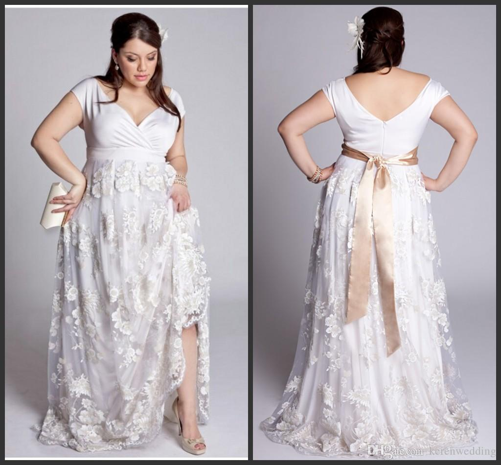 Low Waist Wedding Gowns: Discount Top Saled Lace Low Back Wedding Dress For Women A