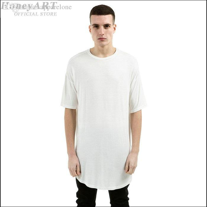 Wholesale Men Sexy Summer Style Hip Hop Extra Long T Shirts Mens ...