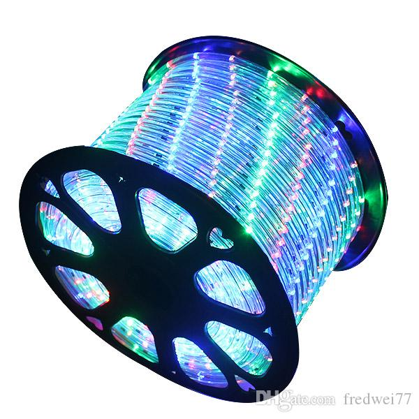 Wholesale 164ft Spool 2 Wire Round Led Rope Light Rgb Multi Color ...