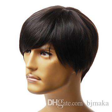2019 100% Human HAIR Wig Man Wig Style Male Fashion Short Style Machine  Made Wig RJ 0139 From Bjmaka 3d845aebd470
