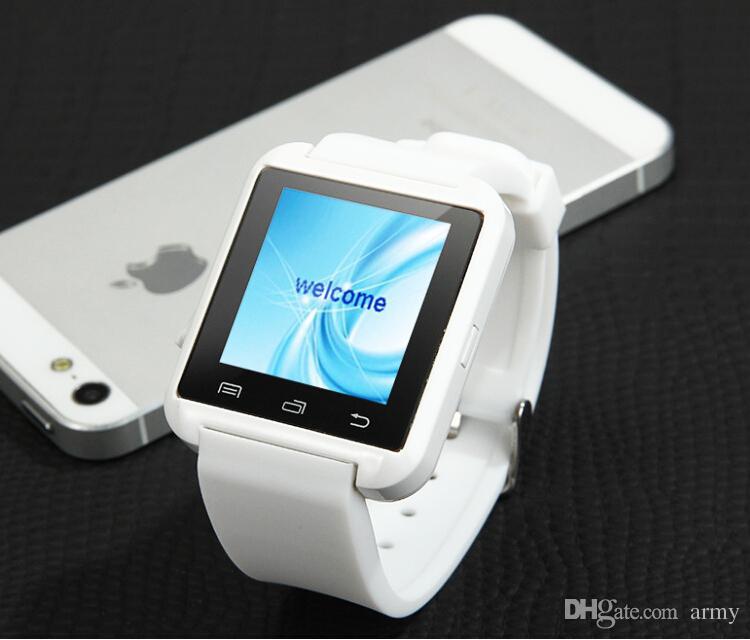 U8 Bluetooth Akıllı Izle U İzle 2 ile ALTIMETRE / Telefon Defteri Çağrı / MP3 / Alarm Samsung S6 S5 NOT 4 Andriod Telefon ve iPhone 6 artı 5 S