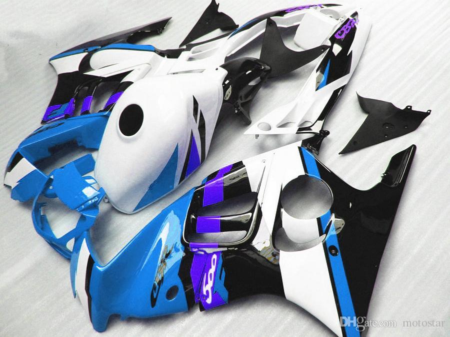 Free 7 gifts bodywork fairings for HONDA CBR600 F3 1997 1998 CBR 600 97 98 white blue black plastic fairing kit QY47