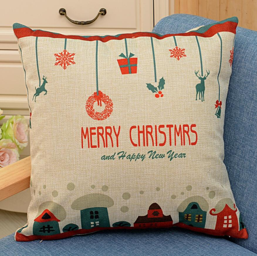 Christmas Pillows Covers: 2x Christmas Throw Pillows Covers Merry Christmas Gifts To Every    ,