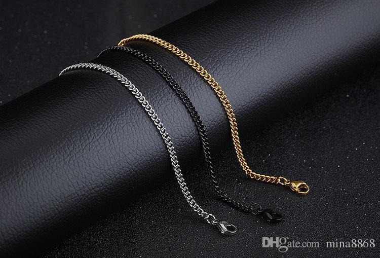 Hip Hop Paslanmaz çelik kolye kadın erkek Rapçi Link Zinciri Erkek Altın / gümüş / siyah Renk O Zincir Kolye toptan