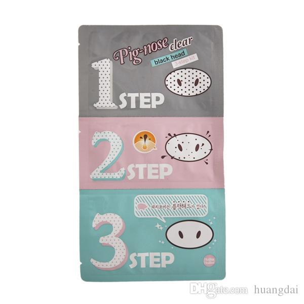 Pig Nose Mask Blackhead Remover Nose Mask Three-step Kit Deep Cleanser Korean Cosmetics Face Nose Treatment Mask
