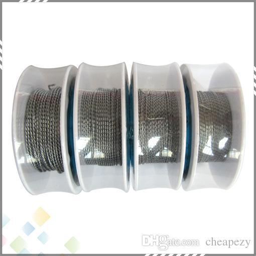 Vaporizador torcido fio fit DIY cigarro eletrônico rebuildable atomizador 24 26 28 30 AWG de alta qualidade Trançado Fio DHL Livre