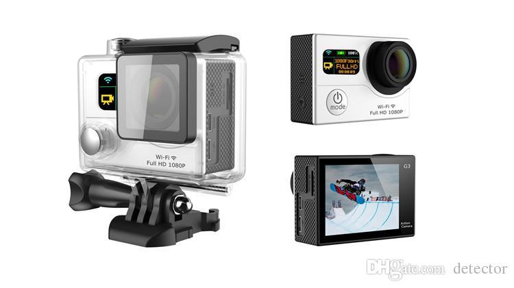 Kahraman 4 Stil G3 Wifi Eylem Kamera Çift Ekran 1080P FHD Spor DV DVR G3 Su geçirmez 30M 170 Geniş Açı 12MP ücretsiz gönderim DHL