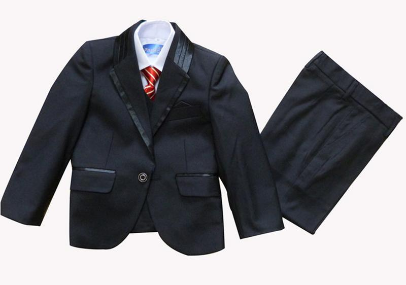 少年タキシードスーツベストシャツネクタイまたは蝶ネクタイウェディングスーツドレス5個セット10セット10セット/ロット