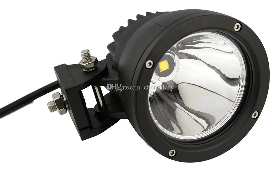 4.5 inch Round 25W LED Work Light 4x4 Aluminium CREE Spot LED Driving Lights for Off road Vehicles Jeep Truck 4WD Offroad Lamp