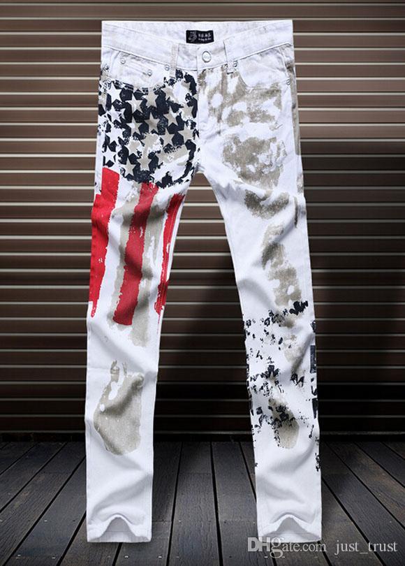 Acheter NEW TOP Hommes Graphique Peinture Hiphpp Jeans Wolf Crâne Punk  Streetwear Patch Jeans Personnalité Célèbre Pantalon Décontracté Droite  Slim ... 6fc71887b367