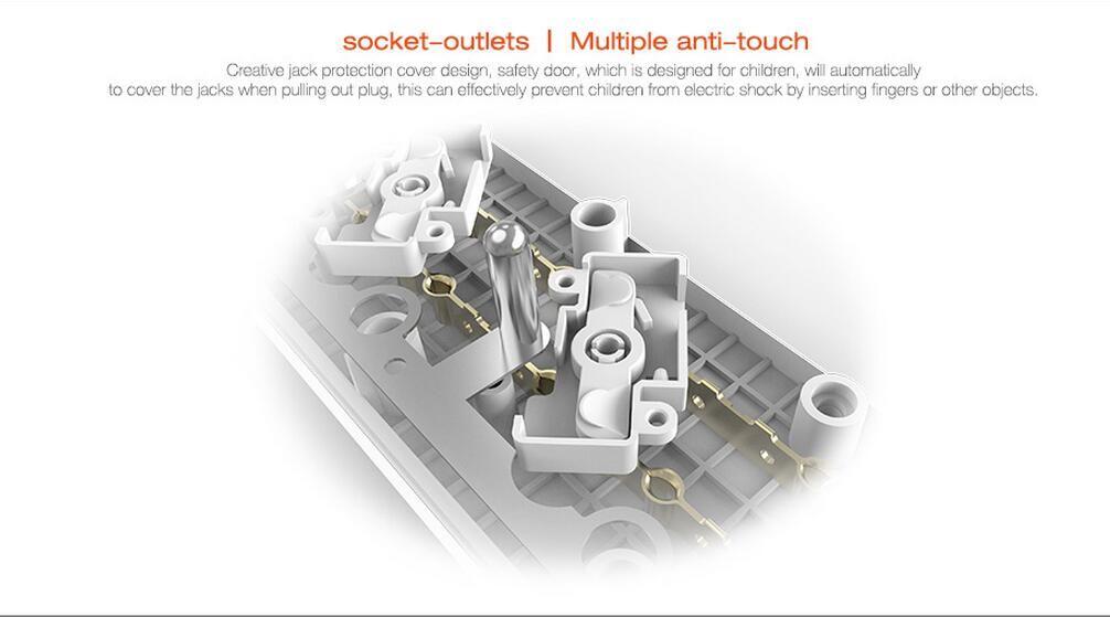 Cavo di alimentazione EU ufficio casa LDNIO con caricatore intelligente USB a 3 porte elettrodomestici iPhone / iPad -White