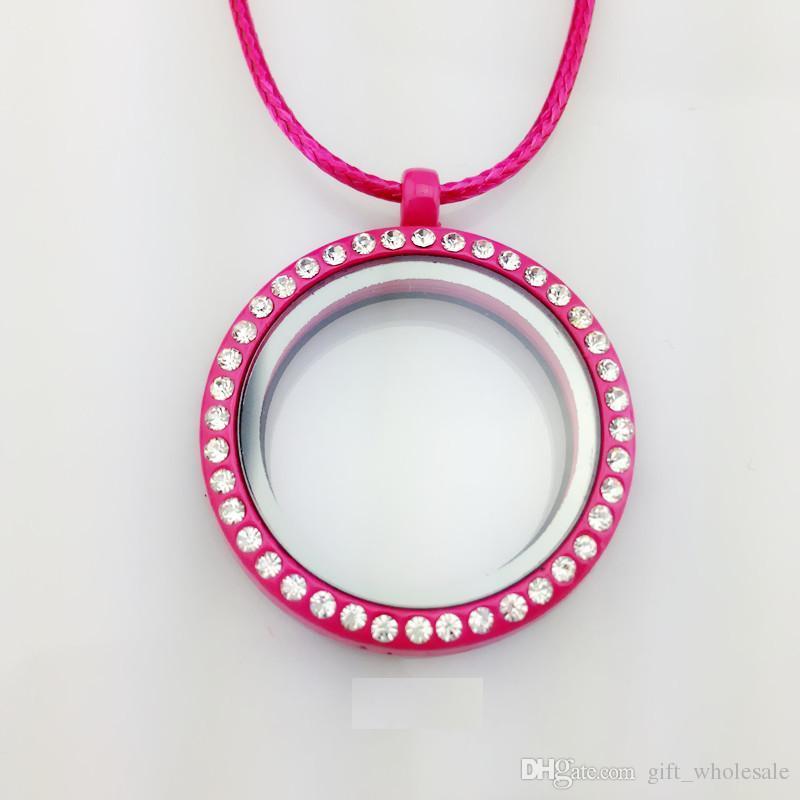 30 мм 9 цветов может быть выбор живой памяти плавающей сердце медальон кулон ожерелья подвески ювелирные изделия выводы компоненты Оптовая