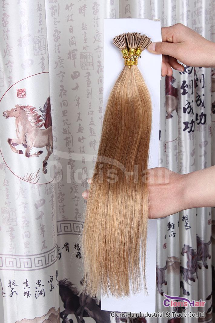 Große gesunde Spitzen Keratin spitzte Klebestift ich spitze Menschenhaar-Erweiterungen Gerade indische Remy-Haar 0.5g / s 50g / set 18-22